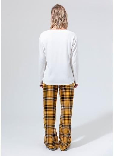 Dagi Pijama Takım Ekru